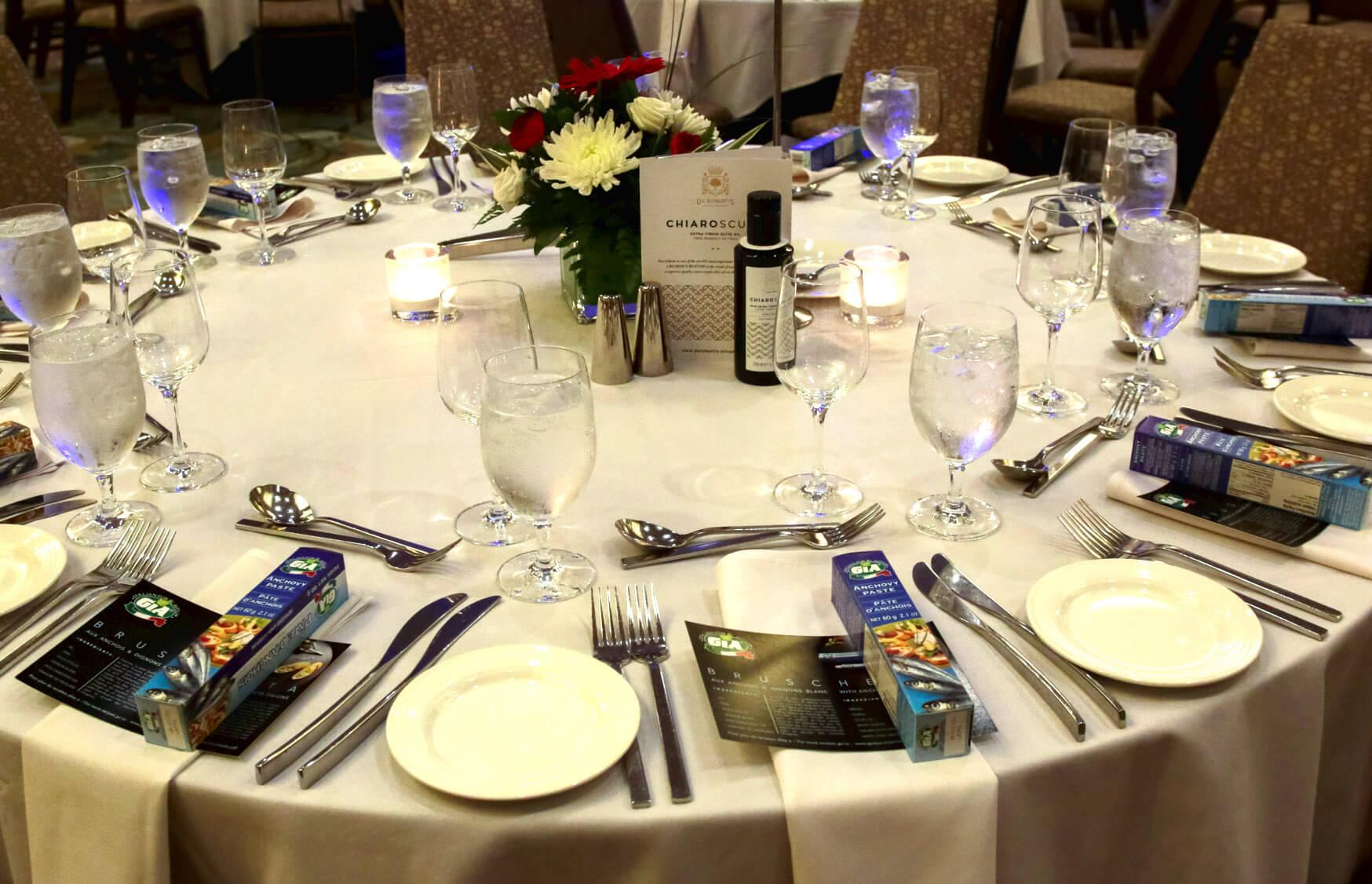 ICCBC Emilia Romagna Gala Dinner Table