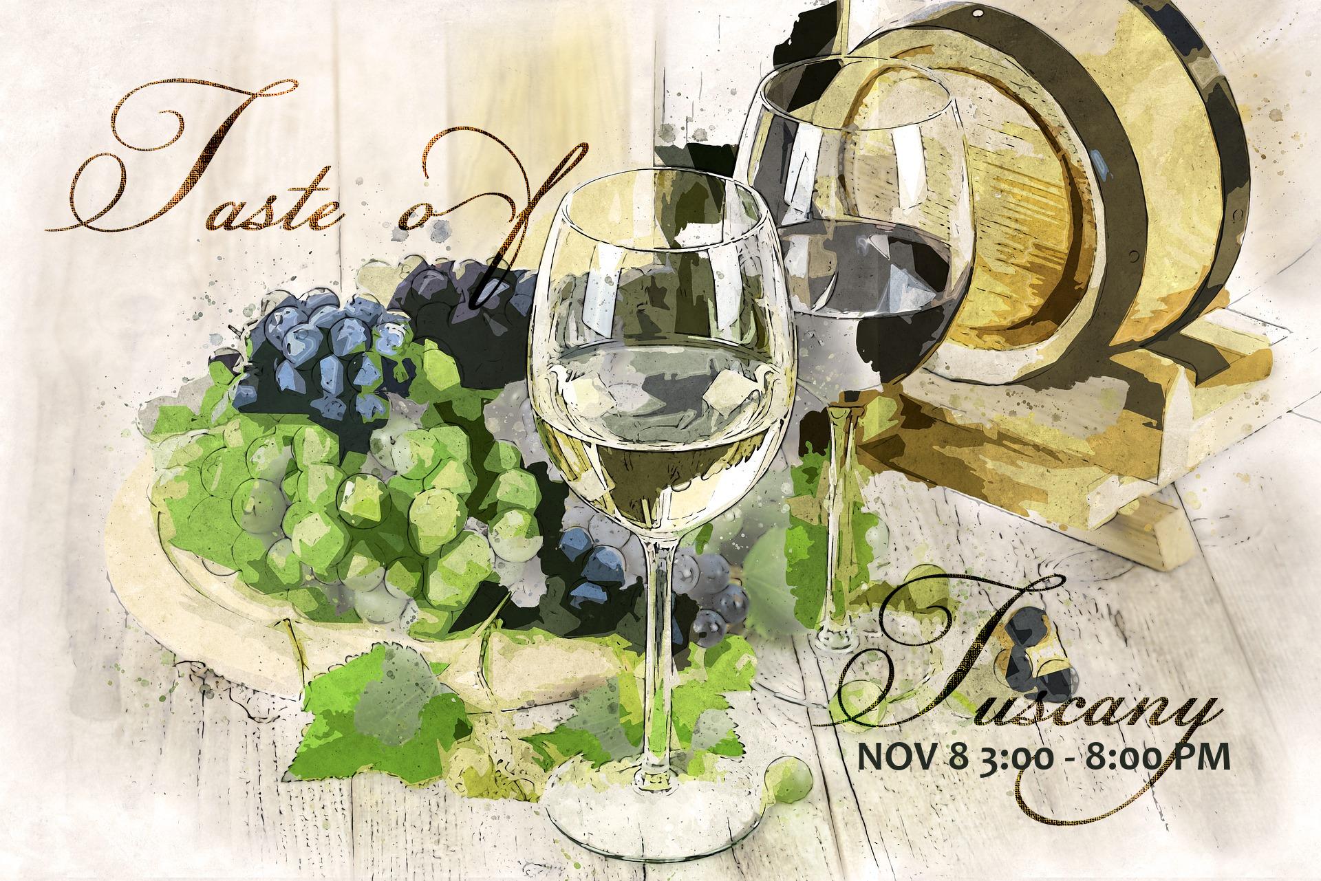 Taste Of Tuscany Nov 8 Wines