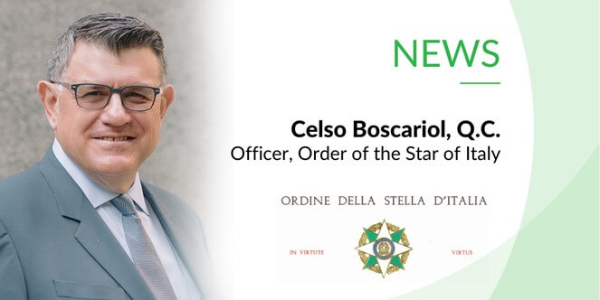 Celso Officer Order Of Star Italy