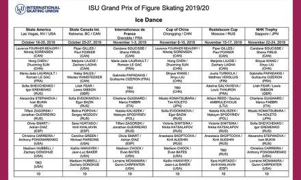 2019 ISU Grand Prix Assignments