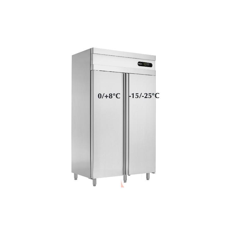 Armoire Frigo Conglateur En Inox Double Porte Combine 70 Cm