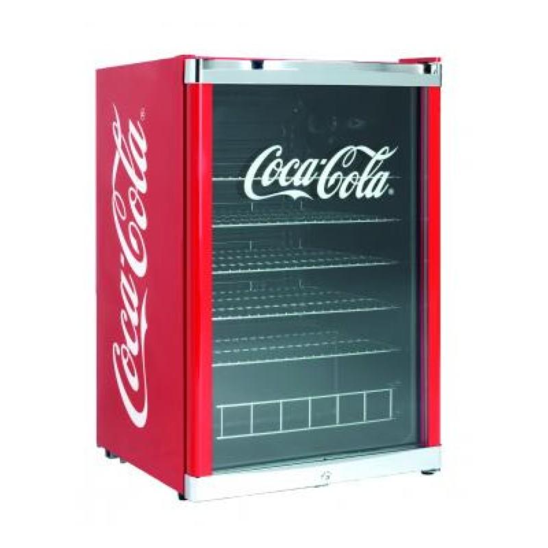 Kleine Koelkastshowcase Coca Cola Drank 115 L Rood Voor