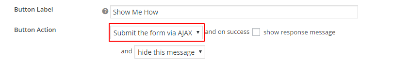 Submit the form via AJAX on CTA Button click