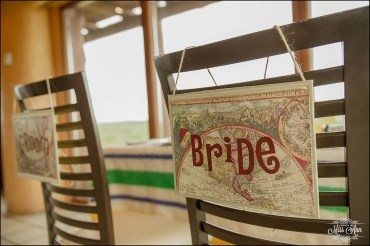 Unique Chair Signs Wedding at Hotel Ranga Iceland
