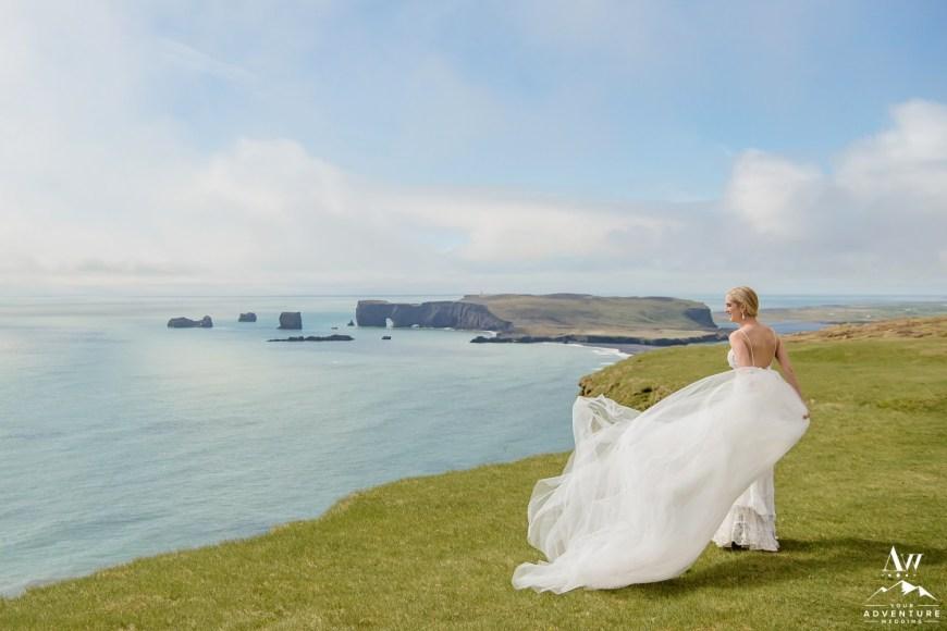 Iceland Wedding Dress Photos
