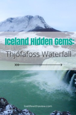 Discover hidden gems in Iceland like this beautiful turquoise waterfall called Thjófafoss in South Iceland | Life With a View