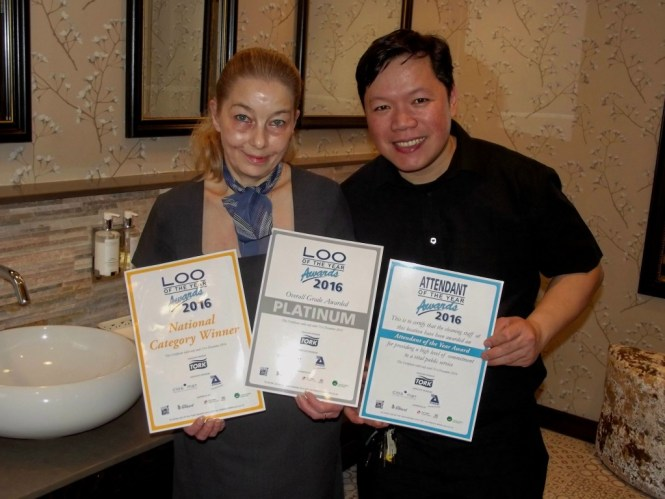 Maids Head Hotel Loo Of The Year Mandy Ames & Erwin Mullari