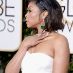 Taraji P. Henson Dazzles In Rare 107-Carat Gemfields Emerald Earrings By Kimberly McDonald At The Golden Globe Awards