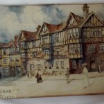 Edwardian Watercolour of Maids Head Hotel Returns to Norwich