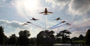 holkham, country, fair, red, arrows, north, norfolk