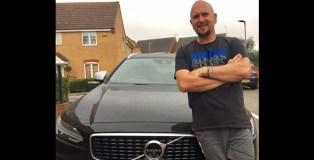 Tim standing in front of a Volvo V90 D5 Powerpulse R-Design