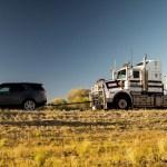 Land Rover Tows 110-tonne Road Train Through the Australian Outback