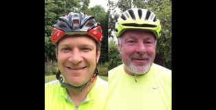 Local fundraisers Charles Wilson and Matt Purling are cycling from Land's End to Norwich Cathedral from 23 – 30 September