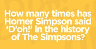 How many times has Homer Simpson said 'D'oh!'