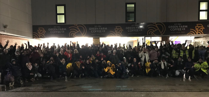 A record-breaking 220 people took part in Norwich Sleep Out 2019