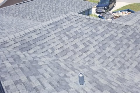 closeup of asphalt roof in Panama City Beach