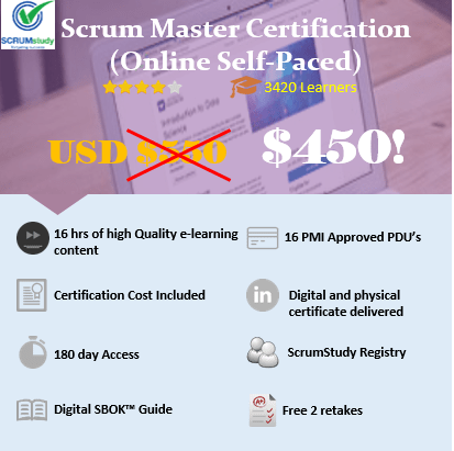 Scrum Master Certification Online Self Paced Icertify