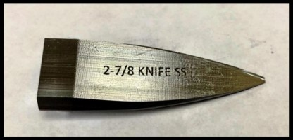 Silver Knife 2 7/8 for ice carving