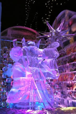 Boston first night ice carving 42