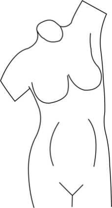 Female Torso Template