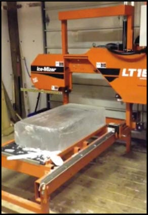 Ice Mizer band saw for ice carving