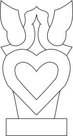 lovebirds on a heart Template