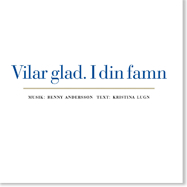 'Vilar glad. I din famn' CD cover