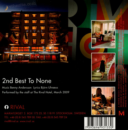 The Rivals - 2nd Best To None - Rear CD cover