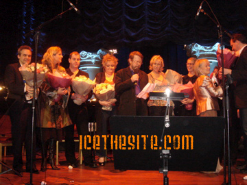 Agnetha and the cast of Stockholm's Mamma Mia!