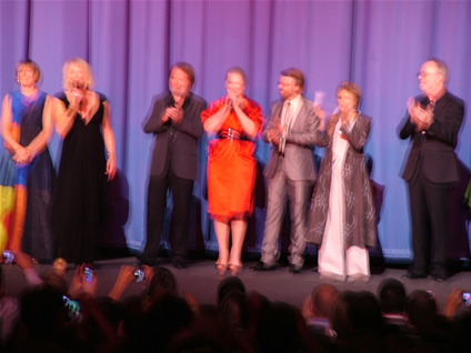 The stars gather on the Odeon stage beforehand