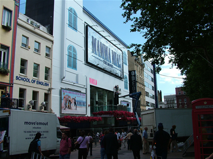 The front of the Odeon Leicester Square transformed