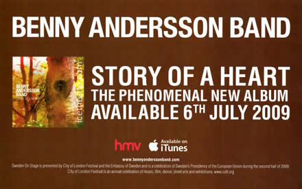 Benny Anderssons Band - Advertising flag