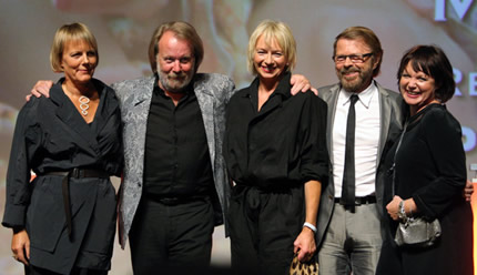 Phyllida, Benny, Judy, Björn and Catherine