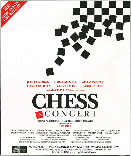CHESS Ticket Advert