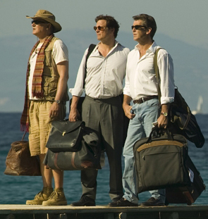 Stellan Skarsgaard, Colin Firth and Pierce Brosnan