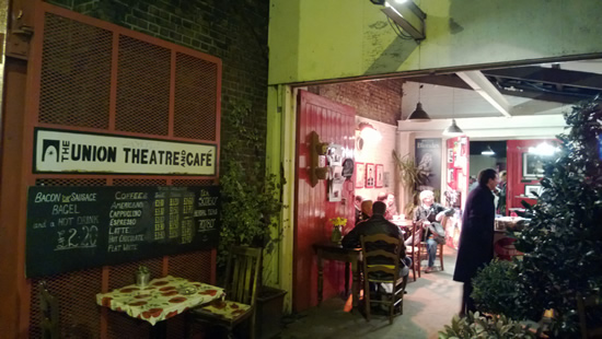 The entrance-way to the Union Theatre where CHESS plays until 16 March 2013