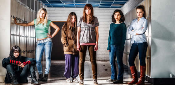 Cirkeln's cast of 'otherworldy children': Linnéa, Vanessa, Anna-Karin, Rebecka, Minoo and Ida