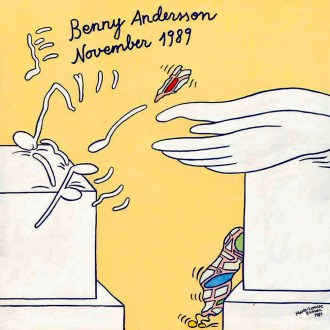 Marie-Louise's artwork on Benny's November 1989 album.