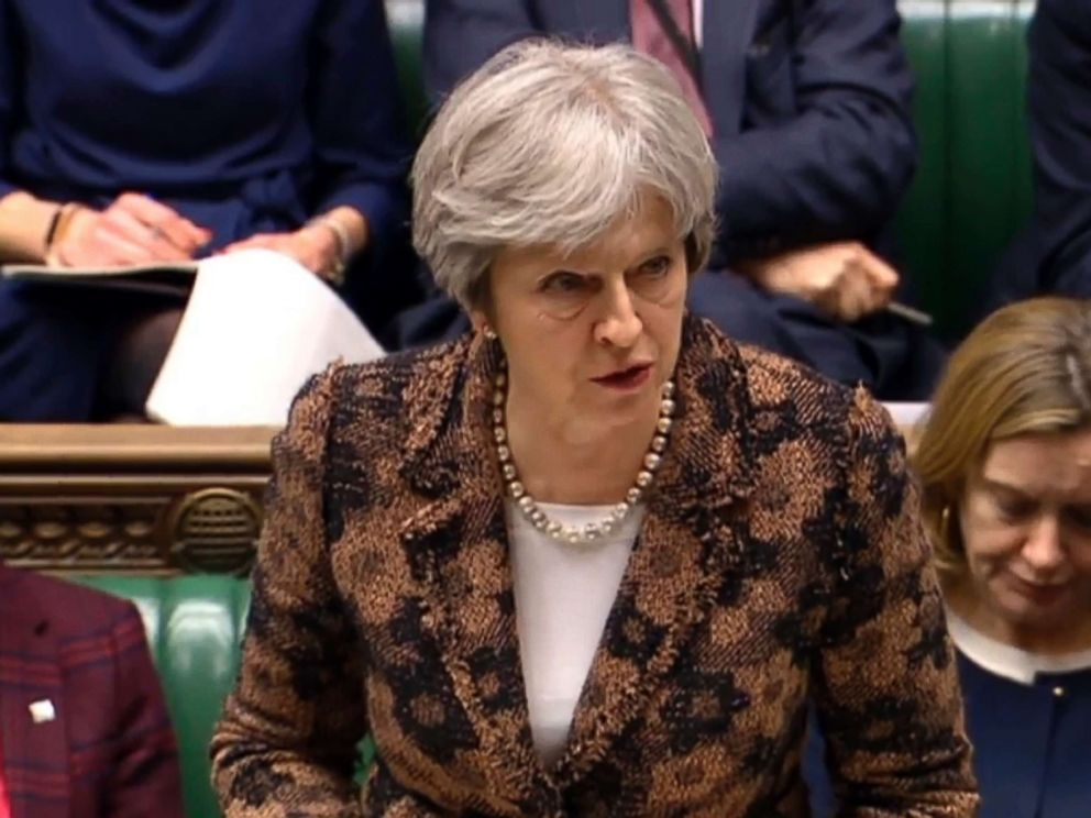 PHOTO: British Prime Minister Theresa May says her government has concluded it is highly likely Russia is responsible for the poisoning of an ex-spy, Sergei Skripal, and daughter Yulia who were exposed to a nerve agent known as Novichok, March 12, 2018.