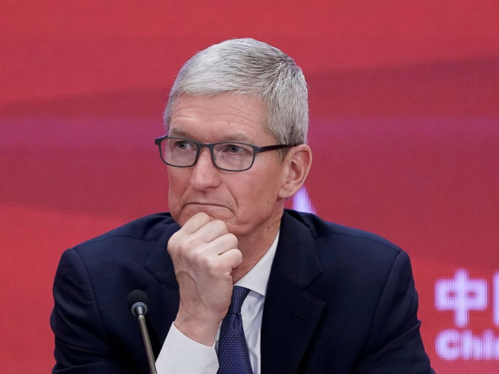 PHOTO: Apple CEO, Tim Cook, attends the annual session of China Development Forum (CDF) 2018 at the Diaoyutai State Guesthouse in Beijing, March 26, 2018.
