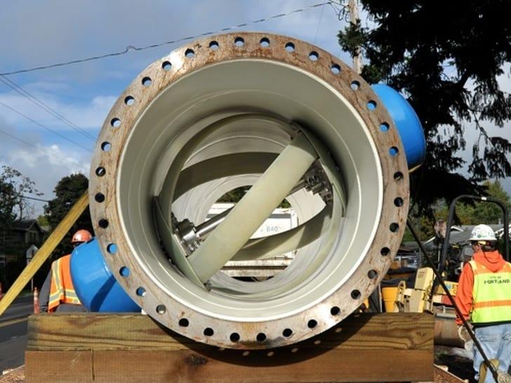 turbine in water pipe
