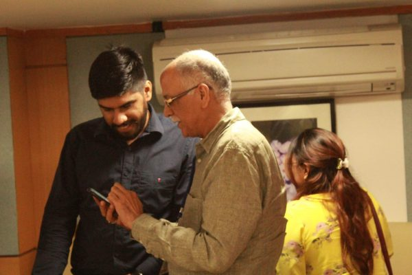 Mr. Dhruv Singh and Dr. Rajeev Kapur sharing some happy moments