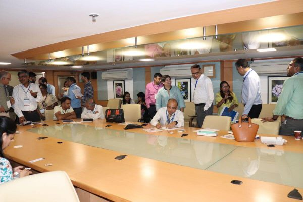Participants interacting with each other at Tenth IC InnovatorCLUB Meeting