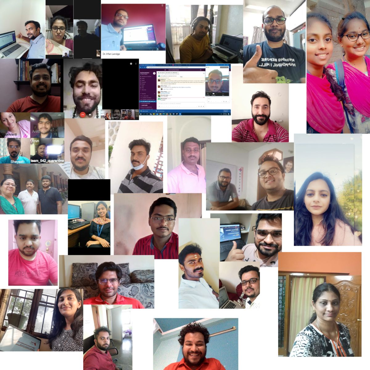 Social media selfie collage campaign of particippants (1)