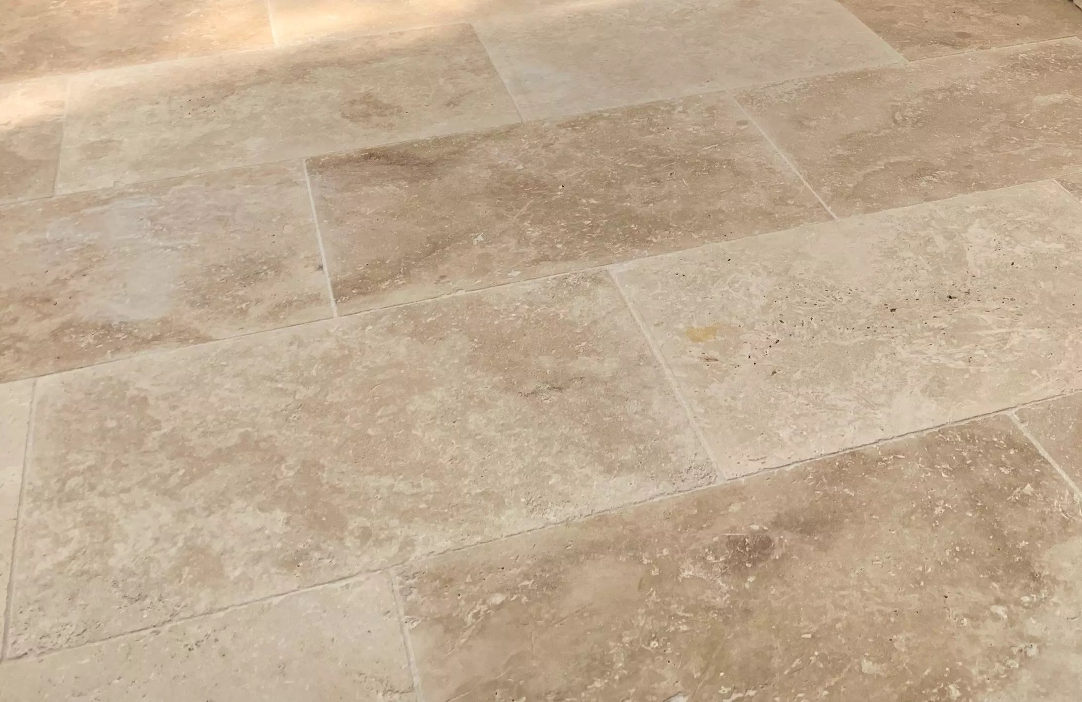how to handle travertine stone damages