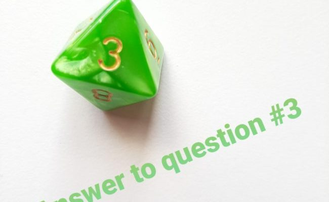 60 Questions – Answer #3