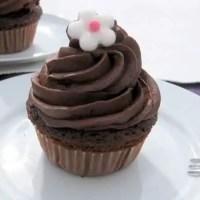 Schokolade Cupcakes mit Schokolade Topping