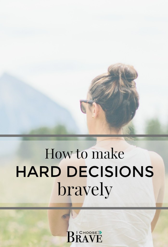 How do you handle hard decisions? When competing interest are all vying for your attention. Stephen Covey says the good is the enemy of the best. Here are some helpful ways to make good decisions bravely.