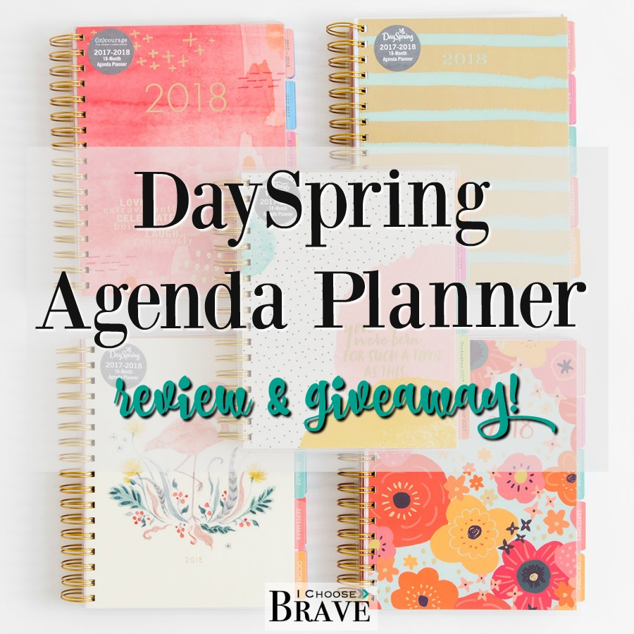 The new DaySpring Agenda Planners have arrived! These 18 month planners are hot off the press. I'm giving all the details, telling what I love about them and giving one away!