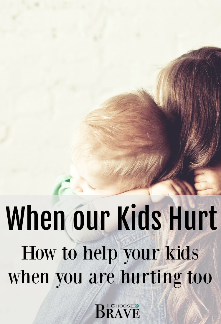 How do we help our hurting children, kids dealing with grief and loss, when we are hurting ourselves? Hope for leading kids through hard times.